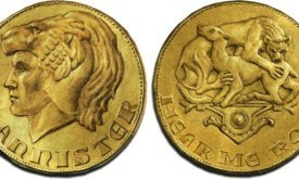 Монета королевства Западных земель с Лореоном Львом