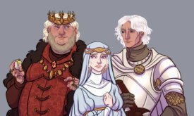 Дети Визериса II — Эйгон Недостойный, его жена-сестра Нейрис и их брат Эймон Рыцарь-Дракон