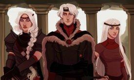 Эйгон Завоеватель с сестрами в юности