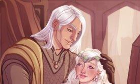 Деймон с племянницей Рейнирой, Отрадой Королевства