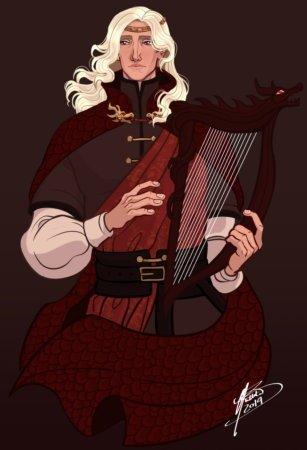 Рейгар Таргариен (нарисовано в подарок другой художнице с отсылками к ее собственной иллюстрации)