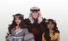 Коронованный Рейгар со своими женами (альтернативная история)