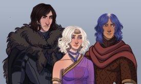 Три головы дракона: Джон Сноу, Дени и Юный Гриф
