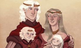 Бейлон с Алиссой и сыновьями Визерисом и Деймоном