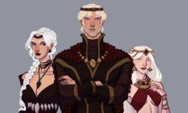 Эйгон Завоеватель с сестрами в зрелости
