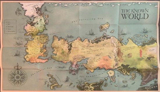 Карта мира в подарочном издании Игры престолов