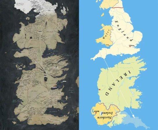 Сравнение Вестероса и Британских островов