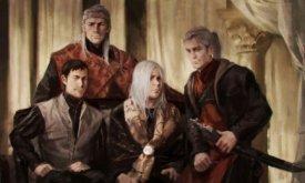 Эйгон Невероятный с сыновьями — принцами Дунканом, Джейхейрисом и Дейроном (худ. Karla Ortiz)