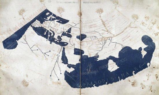 Реконструкция карты Птолемея XV в.