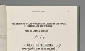 Страница с подписями из Игры престолов