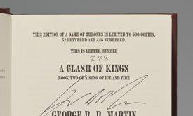 Страница с подписями из Битвы королей