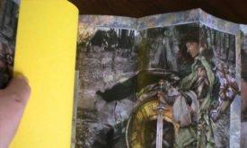 Фотография книги: цветная вклейка, сложенная в три раза
