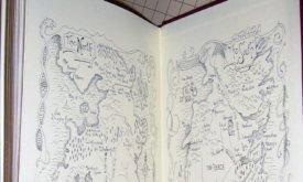 Карты на форзацах в Игре престолов и Битве королей