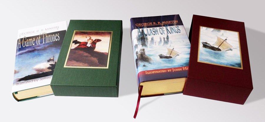 Песнь Льда и Пламени (Meisha Merlin Publishing), Игра престолов и Битва королей