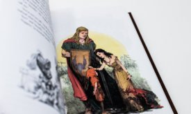 Фотография книги: раскрашенная иллюстрация