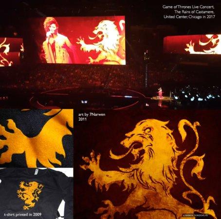 Концерт Рамина Джавади: при исполнении песни «Рейны из Кастамере» показывают не сериальный герб, а мой рисунок
