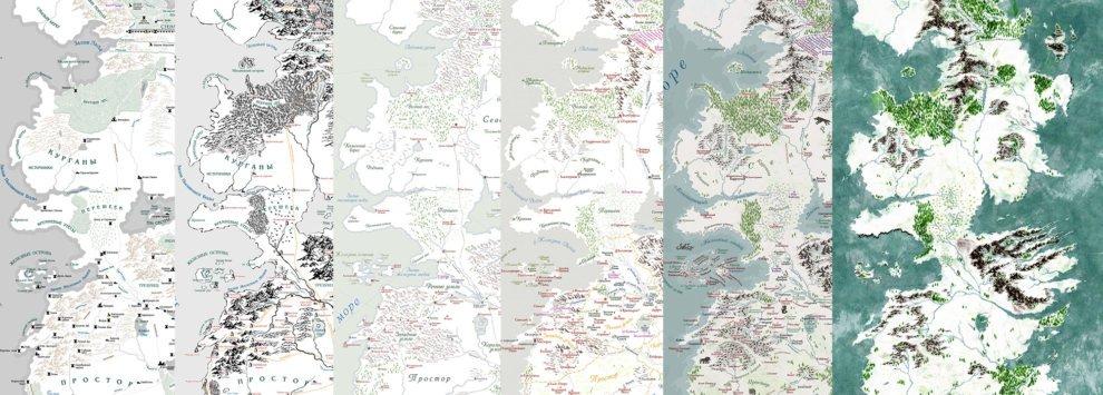 Изменение внешнего вида карты с 2007 по 2019 год (версии 1.4, 2.0, 3.0, 3.2, 4.1 и неопубликованная версия)