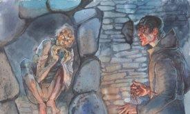 Теон поедает крысу в темнице Дредфорда (образы по сериалу)