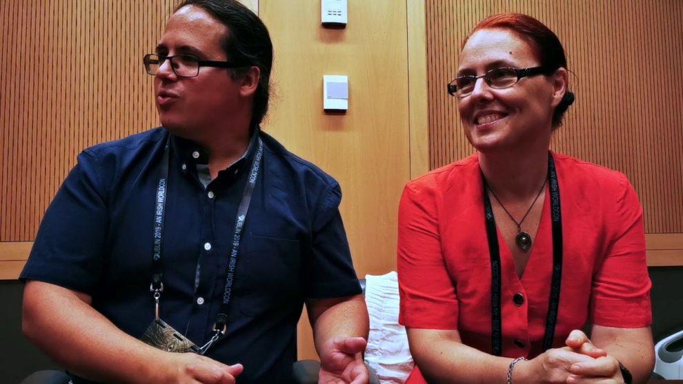 Элио и Линда на конвенте Worldcon в 2019 году