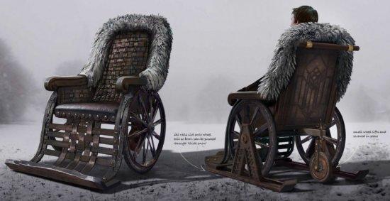 Концепт коляски Брана с лыжами (отвергнут)