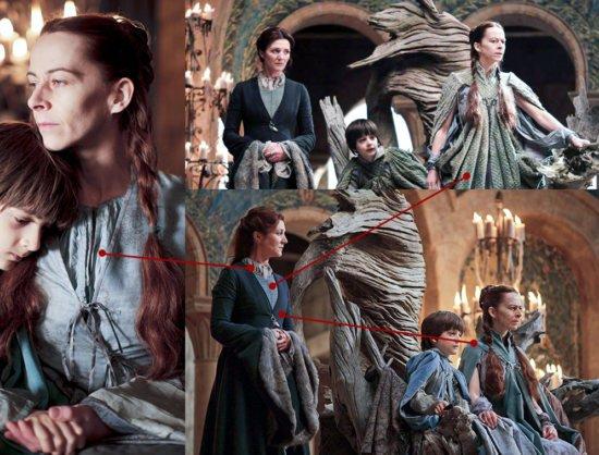 Цветовое соответствие костюмов Кейтилин и Лизы