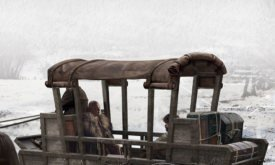 Повозка Вариса и Тириона, в которой они прибывают в Винтерфелл