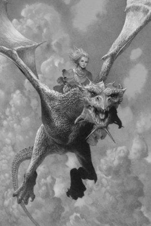 Бейла Таргариен на своем драконе